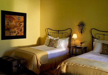 Gallery room at the Hotel Patios de Cafayate