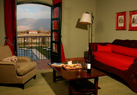 Suites rooms at the Hotel Patios de Cafayate