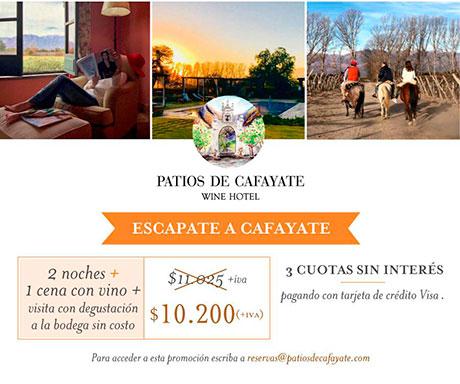 Promociones Hotel en Cafayate